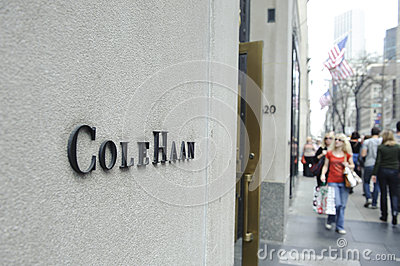 Cole Haan logo on store wall Editorial Stock Photo