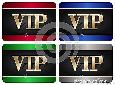 Colección de la tarjeta del VIP
