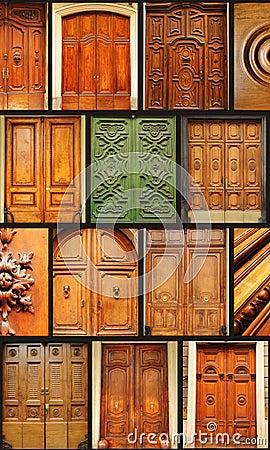 Colecci n de puertas de madera viejas fotos de archivo - Puertas viejas de madera ...
