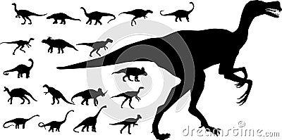 Colección de dinosaurios del vector