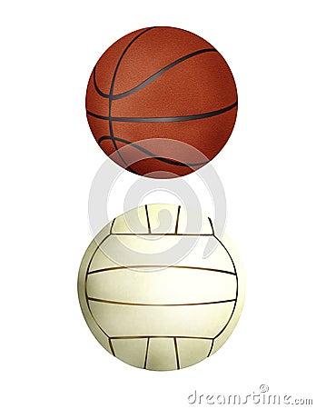 Colección de la bola - balonmano y baloncesto