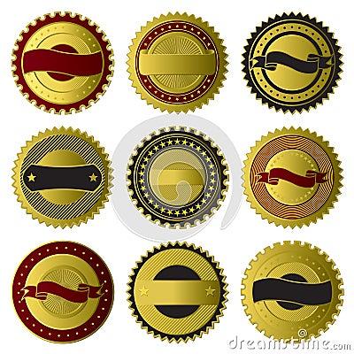 Colección de oro de las escrituras de la etiqueta