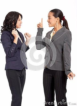 Colegas femeninos apuestos