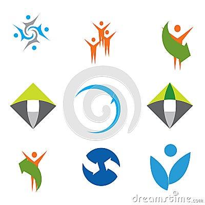 Coleção colorida dos logotipos
