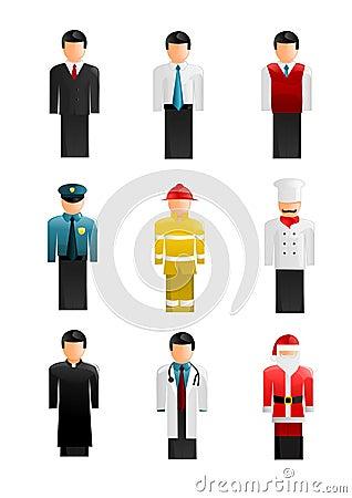 Coleção de ícones dos povos