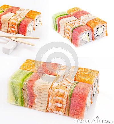 Coleção do rolo do sushi