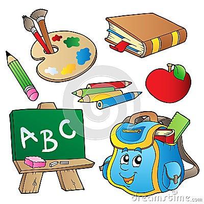 Coleção dos desenhos animados da escola