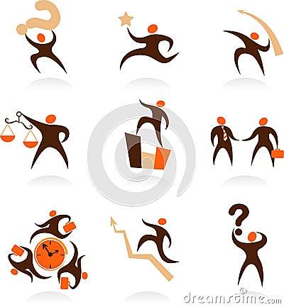 Coleção dos logotipos abstratos dos povos - 8