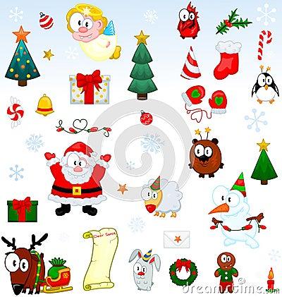 Coleção dos símbolos do Natal