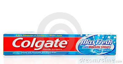 Colgate Max Fresh with Breath strips toothpaste Editorial Photo