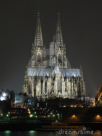 Colgne / Koln (Germany) cathedral by night
