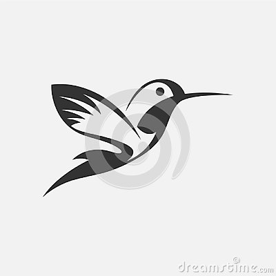 Free Colibri Or Humming Bird Icons. Vector Isolated Set Of Flying Birds With Spread Flittering Wings,EPS 8,EPS 10 Royalty Free Stock Photos - 106434038