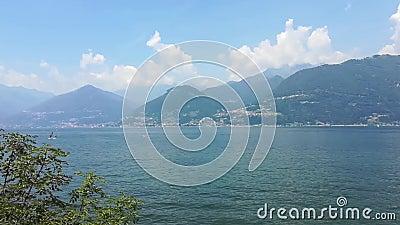 Colico City Como Lake ten noorden van Italië stock video