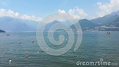 Colico City Como Lake ten noorden van Italië stock videobeelden