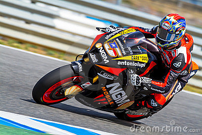 Colin Edwards pilot of MotoGP Editorial Stock Image