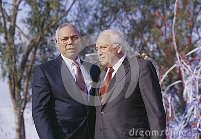 Colin Powell and Dick Cheney Editorial Photography