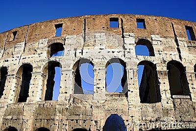 Coliseum columns in Rome,Italy