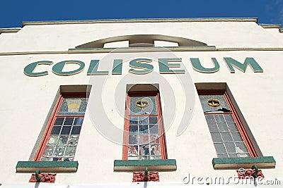 Coliseum facade.