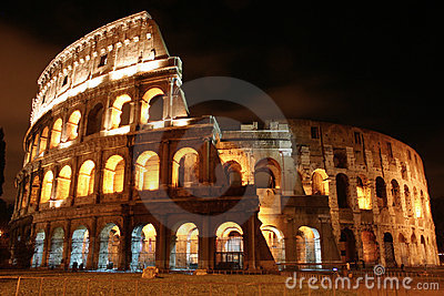 Coliseum by night