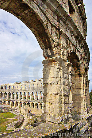 The coliseum of Pula in Croatia