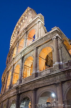 Coliseum in Rome city closeup