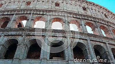 Coliseum Rome Italië - sluit omhoog Timelapse stock video
