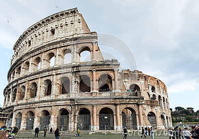 Coliseum in Rome, Italy Editorial Image