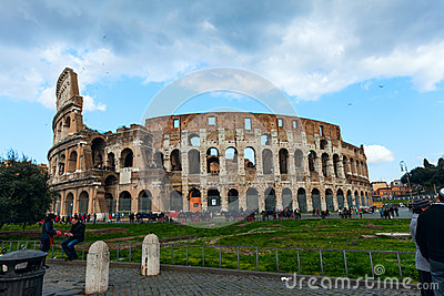 Coliseum in Rome, Italy Editorial Photo