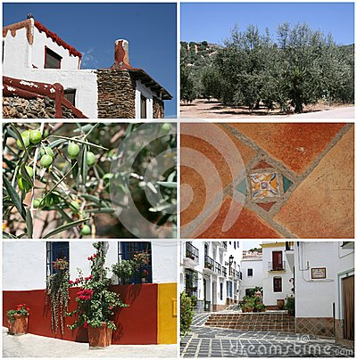 Collage of summertime in Andalusia, Spain
