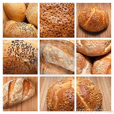 Collage - baked bread