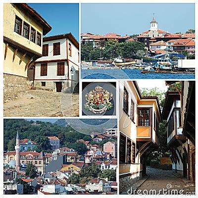 Collage of Bulgarian landmarks