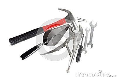 Collage dagli strumenti per la costruzione di casa for Modelli di casa per la costruzione