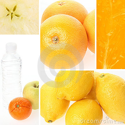 Collage de las frutas