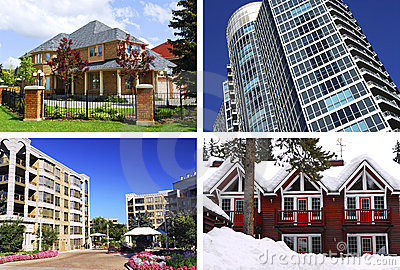 Collage de las propiedades inmobiliarias