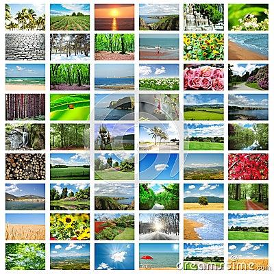 Collage de muchas fotos