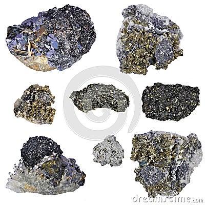 Collage de pyrites