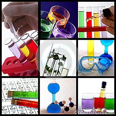 Collage de thème de recherches