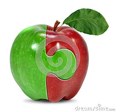 Collage des Apfels