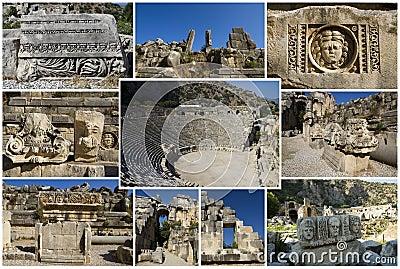 Collage des römischen Theaters
