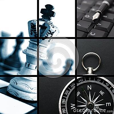 Collage di affari