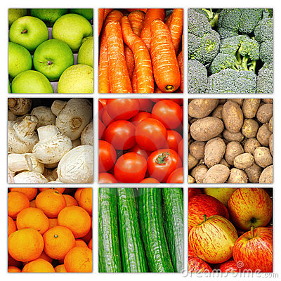 Collage di verdure della frutta