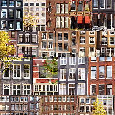 Collage of facades and windows