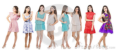 Collage Fashion models