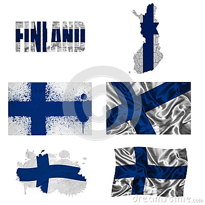 Collage finlandais d indicateur