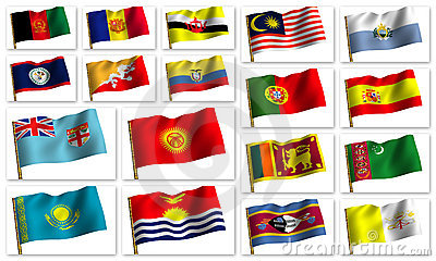 Collage from flags
