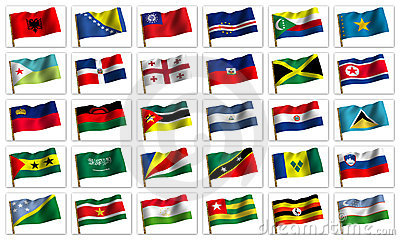 Collage from flags of the different countries