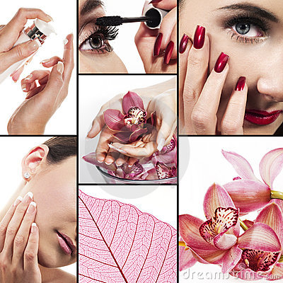 Collage for healthcare and beauty industry
