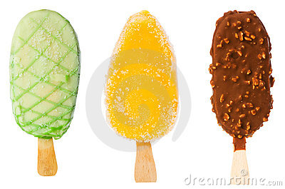 Collage of  ice creams