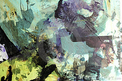 Collage with ink 2