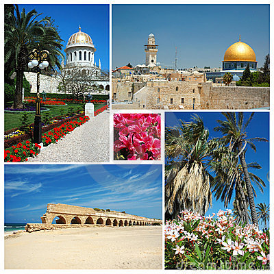 Collage of Israel landmarks